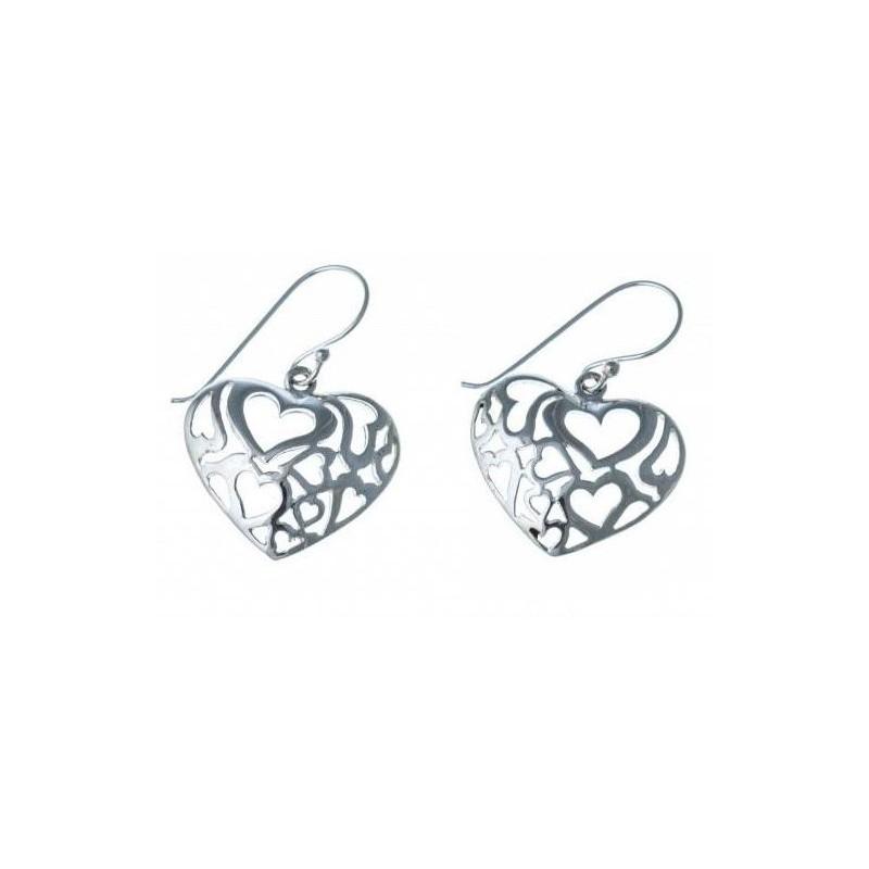 boucle d'oreille fleur en argent 925 /1000 pour femme, Profusion