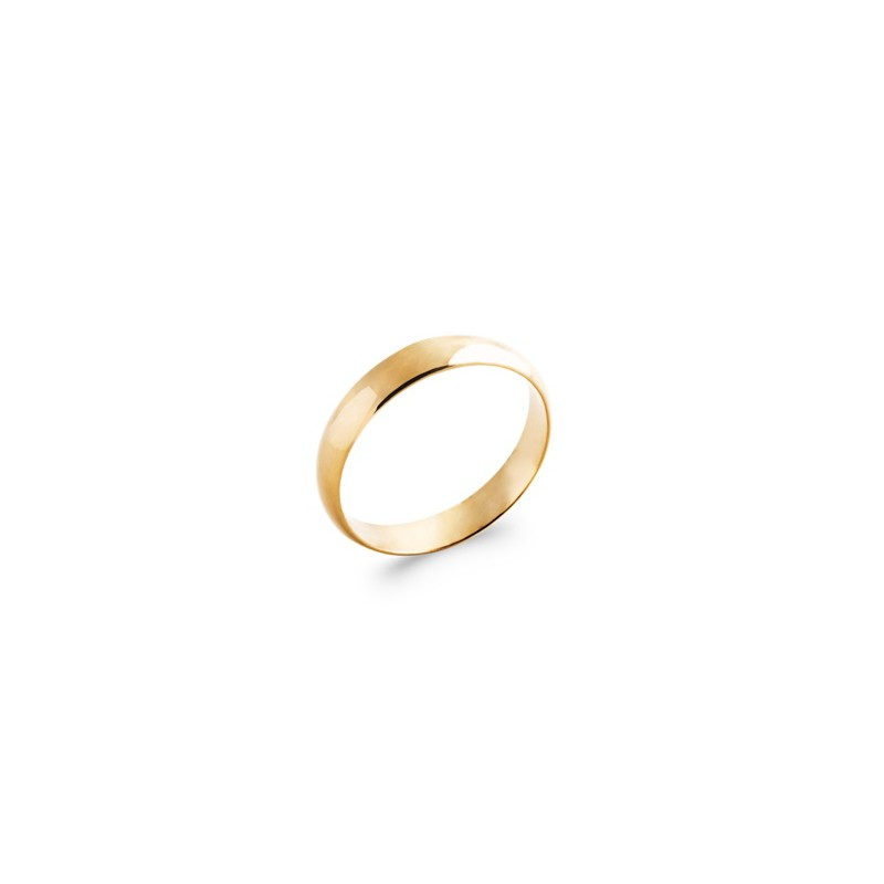 Alliance homme & femme en plaqué or 4 mm - Simplicity - Lyn&Or Bijoux