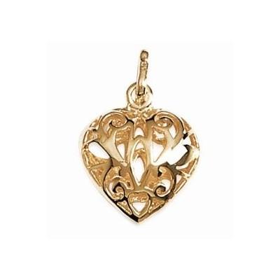 Pendentif en plaqué or pour femme - Coeur Ciselé - Lyn&Or Bijoux