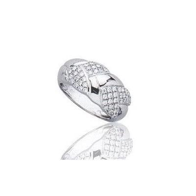 Bague femme en or blanc 18 carats et diamant - Isaure - Lyn&Or Bijoux