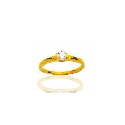 Bague de fiançailles pour femme en or & diamant solitaire - Colombine - Lyn&Or Bijoux