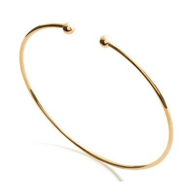 Bracelet jonc ouvert pour femme en plaqué or - Tanga - Lyn&Or Bijoux