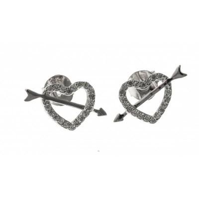 boucle d'oreille fantaisie en argent 925 pour femme, Cupidon