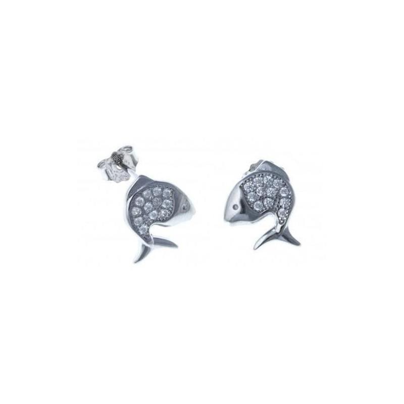 Boucles d'oreilles Poisson en argent pour femme - Lyma - Lyn&Or Bijoux
