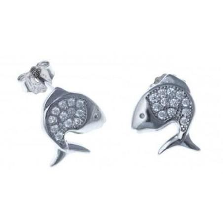 Boucles d'oreilles Poisson en argent - Lyma