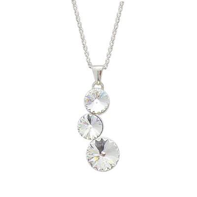 Collier femme en argent & cristal de Swarovski - Lyn&Or Bijoux