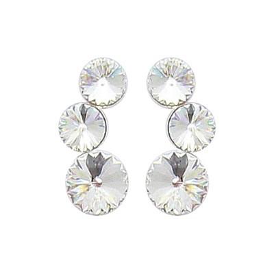 Boucles d'oreille femme en argent & cristal de Swarovski - Lyn&Or Bijoux