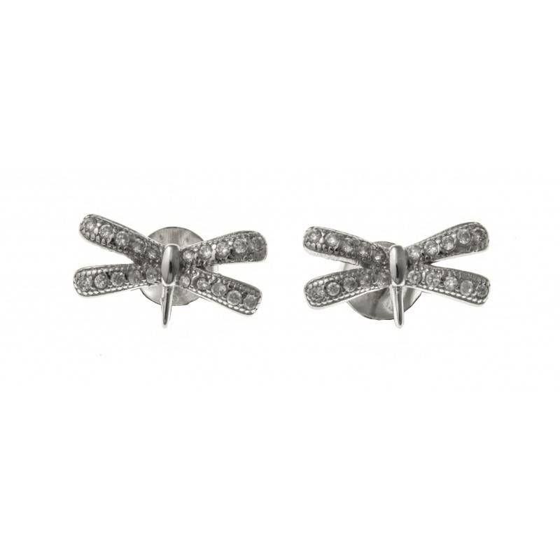 Boucles d'oreilles Libellule en argent pour femme - Libelle - Lyn&Or Bijoux