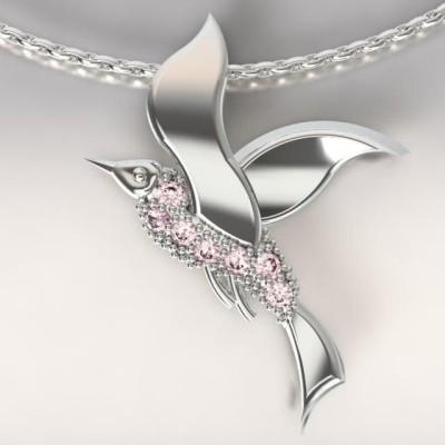 Collier femme, Topazes roses & argent - Mouette cayouckette