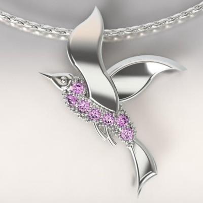 Collier femme, Topazes violettes & argent - Mouette cayouckette