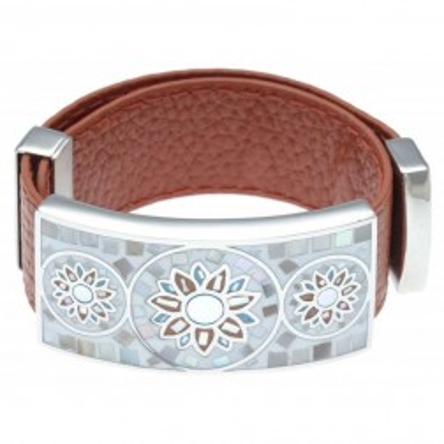 Bracelet femme, cuir orange modulable & Tournesol - Odena - Bijouterie Lyn&Or