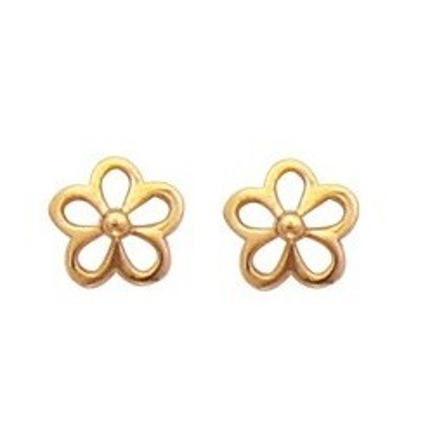 Boucles d'oreilles fille en plaqué or - Petites fleurs, Lyn&Or Bijoux