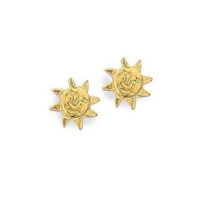 Boucles d'oreilles fille en plaqué or - Soleil, Lyn&Or BIjoux