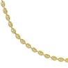 Chaîne femme & homme, graine de café en or, 5 mm - Lyn&Or Bijoux