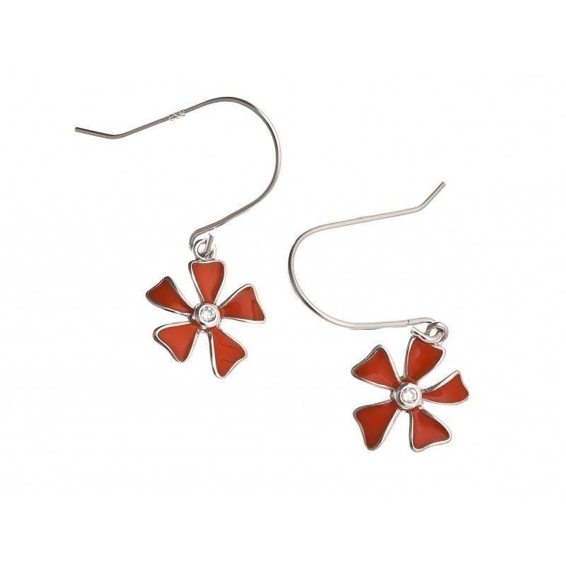 Boucles d'oreilles oranges en argent pour femme - Ambiance - Lyn&Or Bijoux