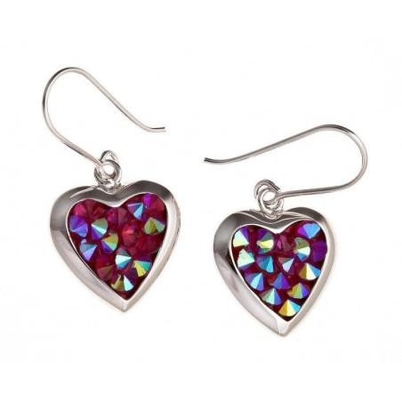 Boucles d'oreilles coeur en Cristal irisé - Rockoeur