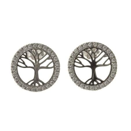 Boucles d'oreilles en argent 925 - Nature