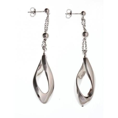 Boucles d'oreilles pendantes en argent - Sylvie