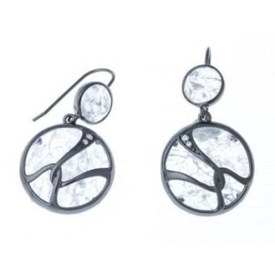 Boucles d'oreilles en quartz et argent pour femme - Image - Lyn&Or Bijoux