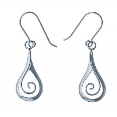 Boucles d'oreilles pendantes en argent 925 pour femme - Silly - Lyn&Or Bijoux