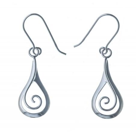 Boucles d'oreilles pendantes en argent 925 - Silly