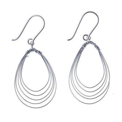 Boucles d'oreilles pendantes en argent pour femme - Si - Lyn&Or Bijoux