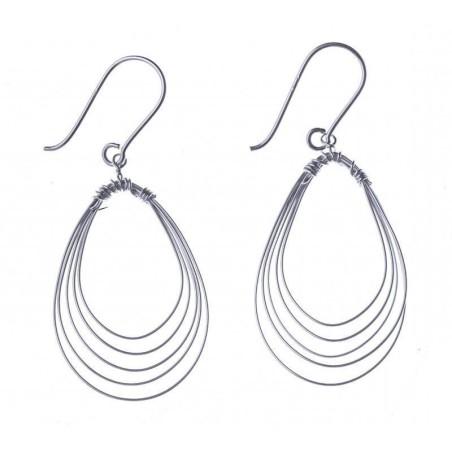 Boucles d'oreilles pendantes en argent - Si