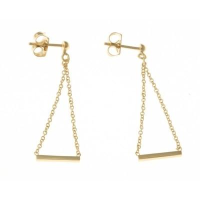 Boucles d'oreilles pendantes en plaqué or pour femme - Equilibre - Lyn&Or Bijoux