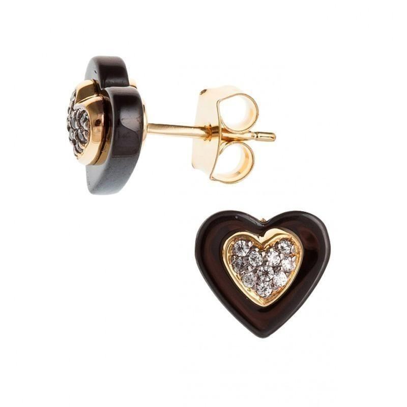 boucle d'oreille en plaqué or fantaisie pour femme, Vila