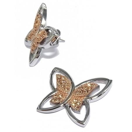 Boucles d'oreilles acier - Envolée