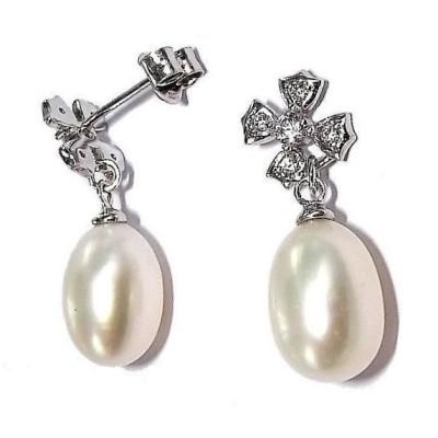 Boucles d'oreilles perles de culture et argent pour femme - Myra - Lyn&Or Bijoux