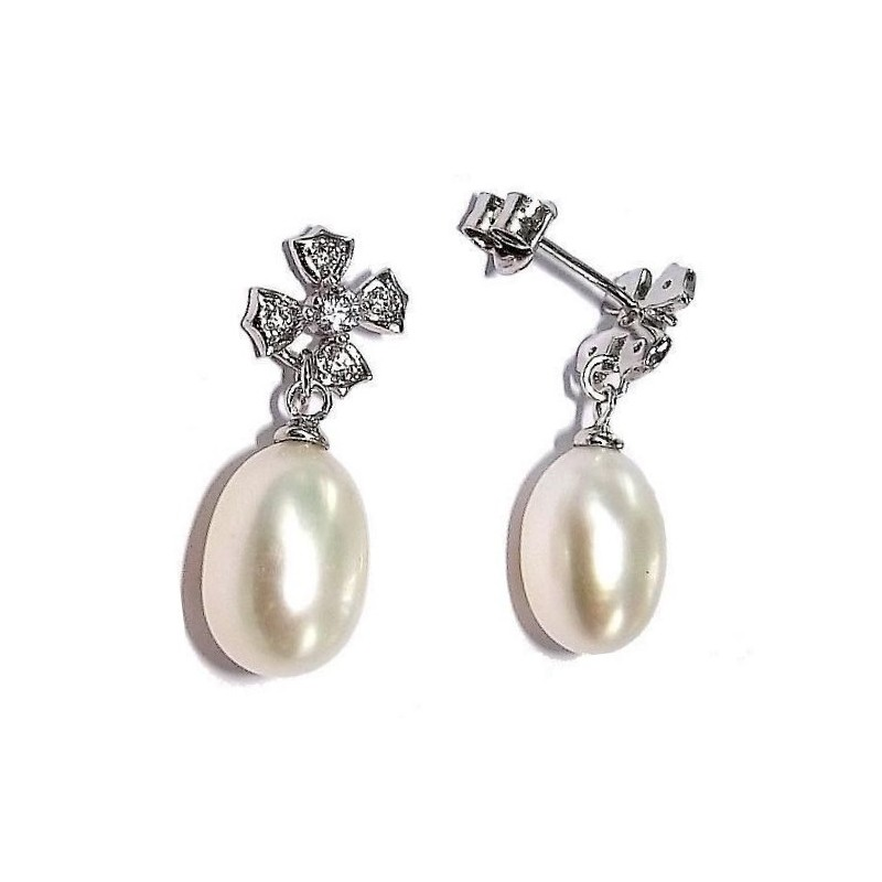 boucle d'oreille perles fantaisie pour femme, Myra