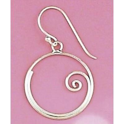 Boucles d'oreille pendantes femme en argent 925 - Arla - Lyn&Or Bijoux