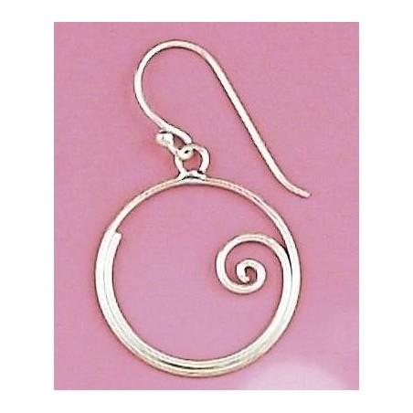 Boucles d'oreilles en argent 925 - Arla