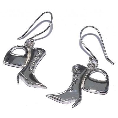 Boucles d'oreille en argent 925 pour femme - Fashionista - Lyn&Or Bijoux