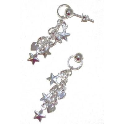 Boucles d'oreilles Etoile en argent pour femme - Like-a-star - Lyn&Or Bijoux
