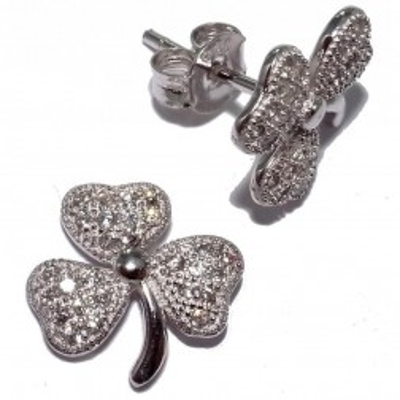 Boucles d'oreilles trèfle en argent pour femme - Floriane - Lyn&Or Bijoux