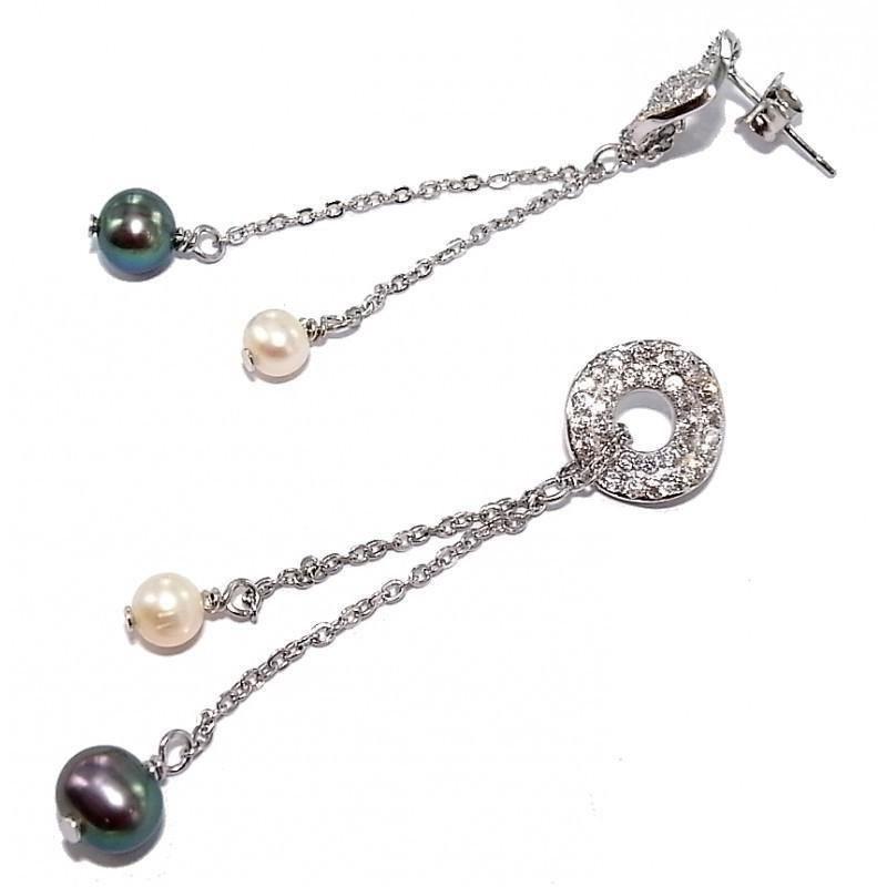 boucle d'oreille perles fantaisie pour femme, Prya