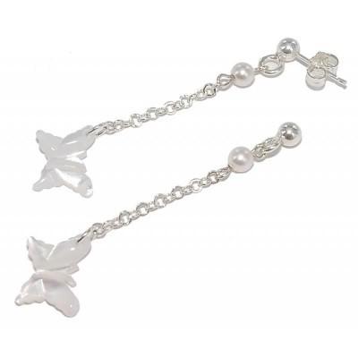Boucles d'oreilles papillon en nacre pour femme - Lumina - Lyn&Or Bijoux