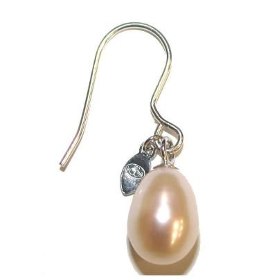 boucle d'oreille perle blanche fantaisie pour femme, Anya