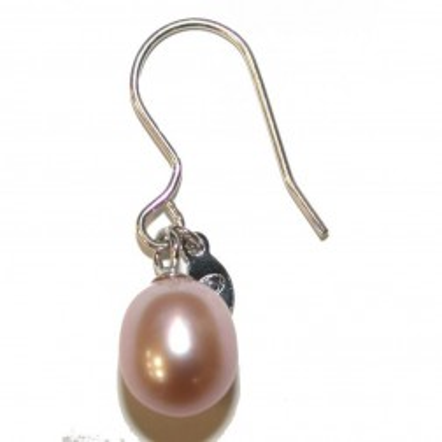 Boucles d'oreilles perle de culture rose pour femme - Anya - Lyn&Or Bijoux