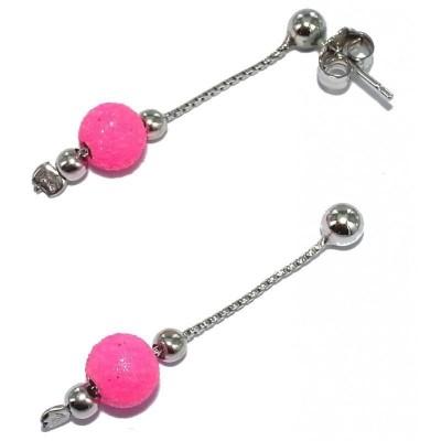 Boucles d'oreille en cristal pour femme - China rose - Lyn&Or Bijoux