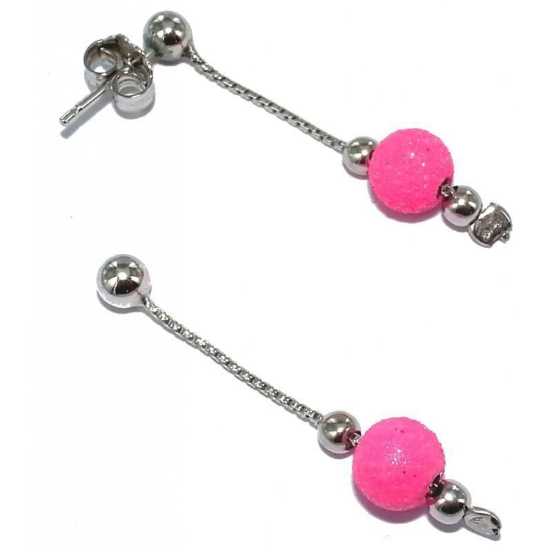Boucles d'oreilles en cristal pour femme - China rose - Lyn&Or Bijoux