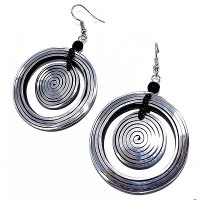 boucle d'oreille aluminium rondes pour femme, Psyché