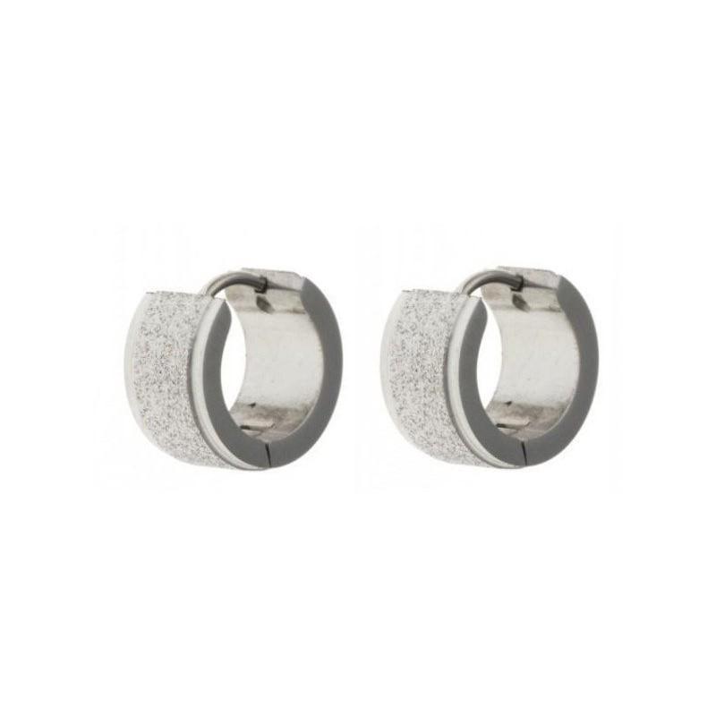 Bijou anneaux d'oreilles acier inoxydable fantaisie pour femme - Tiaga