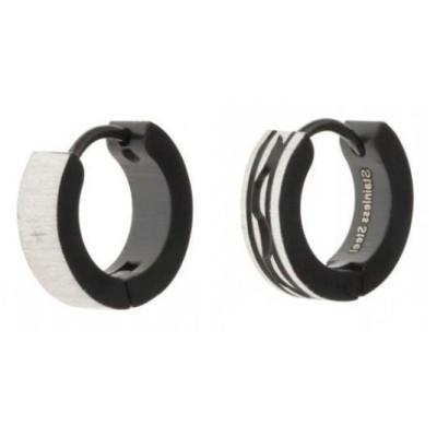 anneaux d'oreilles acier inoxydable fantaisie pour femme, Biala