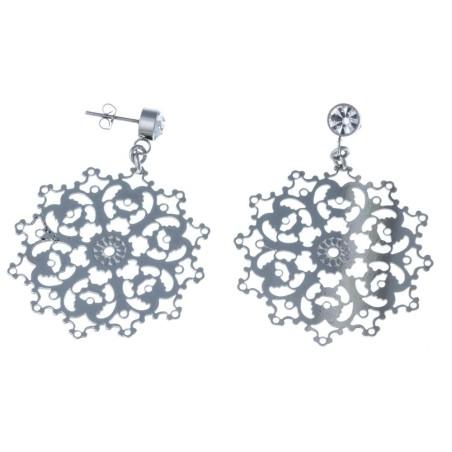 Boucles d'oreilles acier inoxydable - Diva