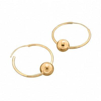 Créoles avec perles finition dorée Zoé Bijoux pour femme - Lolita 30 mm - Lyn&Or Bijoux