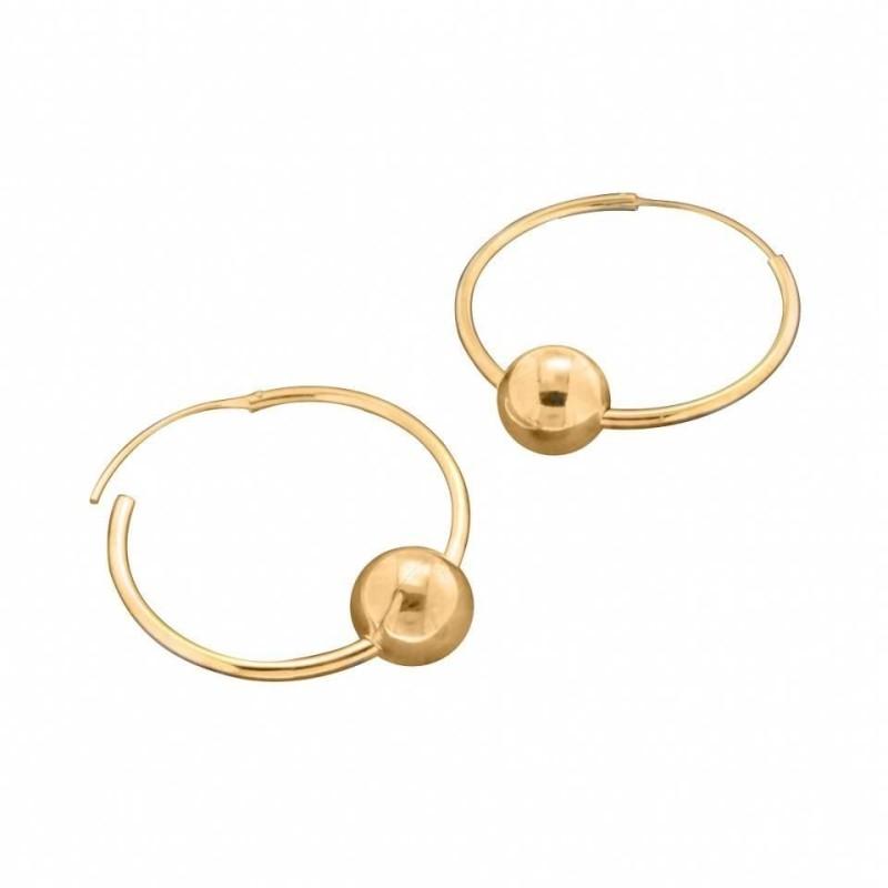 Créoles 30 mm avec perles pour femme en plaqué or Louise Zoé