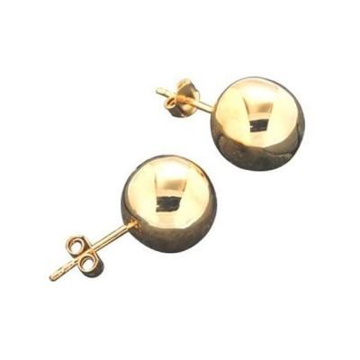 Boucles d'oreilles, finition dorée, LZ pour femme - Fame 12 mm - Lyn&Or Bijoux